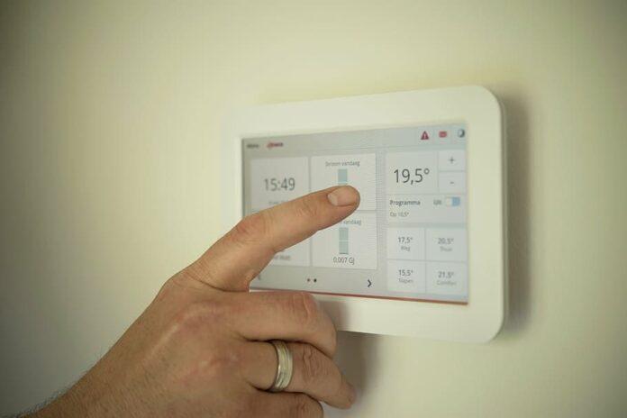 Foto de termostato inteligente